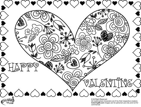 valentine heart coloring pages team colors