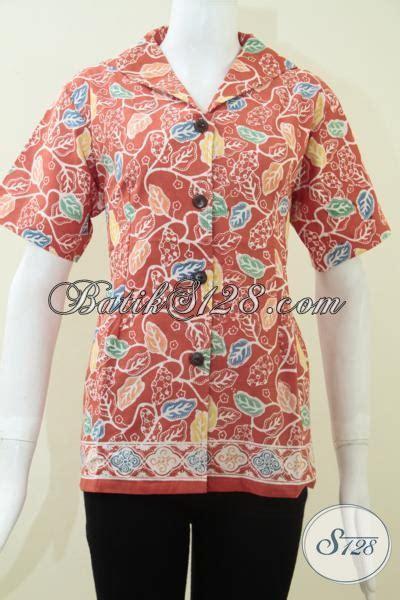 Kemeja Wanita Motif Bunga 287 baju batik remaja putri blus batik wanita muda pakaian