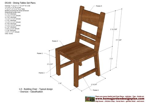 Wooden Dining Chair Plans Free Plans For Outdoor Table And Chairs Woodworking Plans