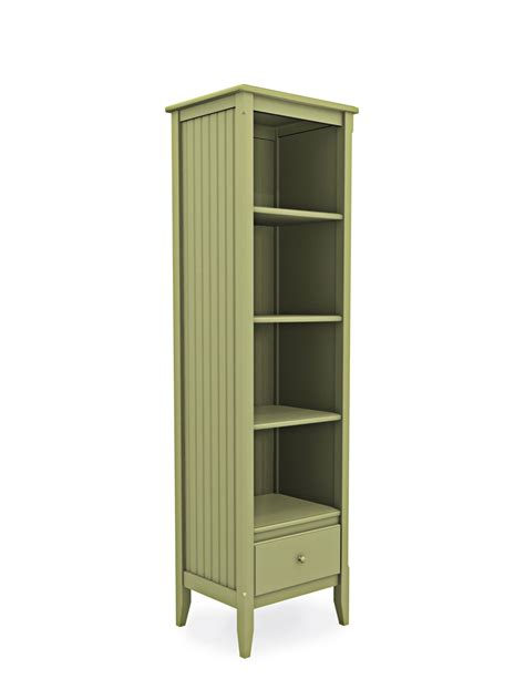 cottage narrow bookcase with drawer cottage home 174