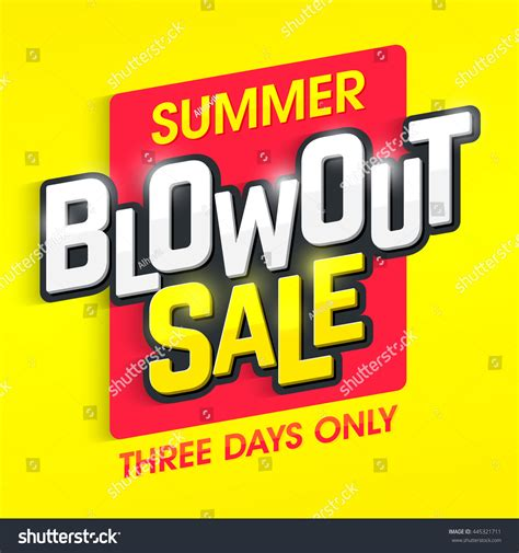 20 At Faith 3 Days Only by Summer Blowout Sale Banner Special Offer Stock Vector