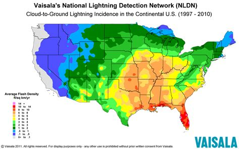 us weather lightning map national lightning detection network the most