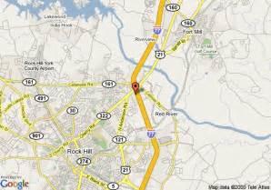 map of 8 motel rock hill rock hill