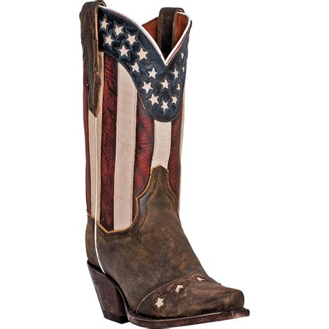 flag boots womens dan post womens brown leather liberty flag patriotic