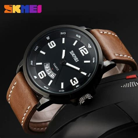 Jam Tangan The Leather Brown Black skmei jam tangan analog pria 9115cl black brown jakartanotebook