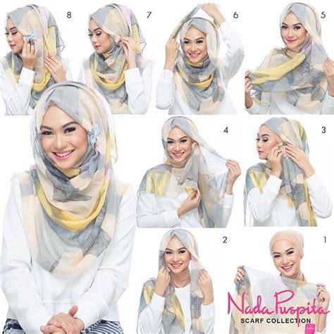 hijab tutorial voluminous muslim hijab fashion hijab tutorial pinterest