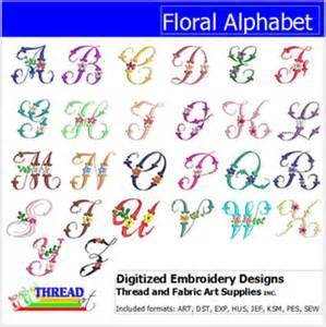 machine embroidery designs floral alphabet