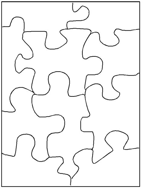 printable blank jigsaw puzzles blank puzzle template outline stitching designs pinterest