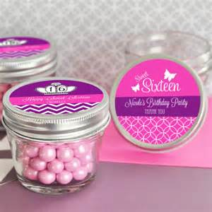 Sweet 16 Personalized Favors by Personalized Sweet 16 15 Mini Jar Favors 4 Oz