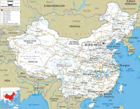 Chinas Map by Road Map Of China Ezilon Maps