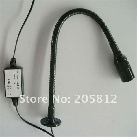 led flexible snake light 1w 12 24v led worklight 30 60cm snake gooseneck flexible