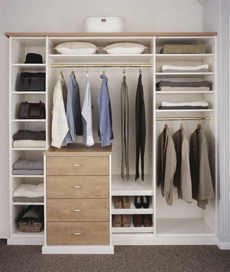 Prefabricated Closet Organizers Melamine Closet System Roselawnlutheran