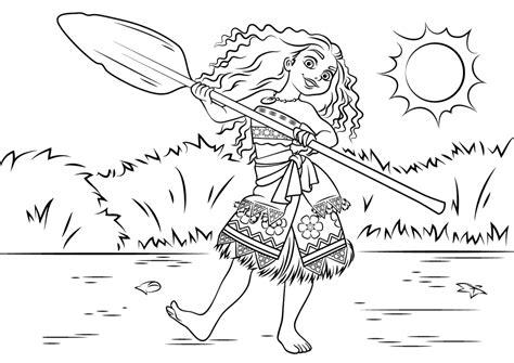 imagenes para colorear moana moana bailando pelicula de disney para dibujar y pintar