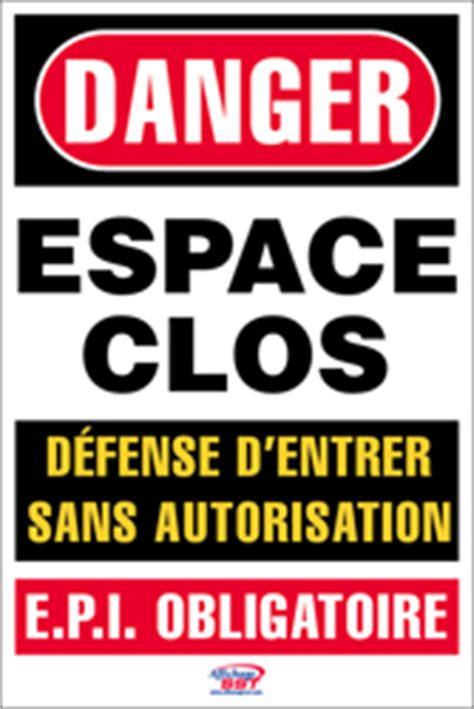 cadenassage espace clos affiches s 233 curit 233 danger espaces clos epi affichage sst