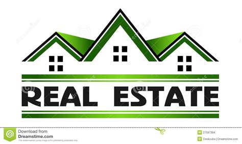 real estate green houses logo stock images image 27597394