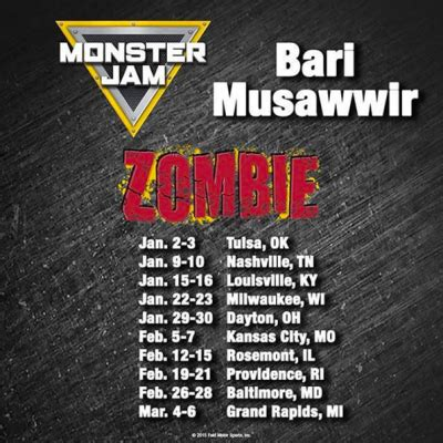 truck jam schedule driver bari musawwir discusses 2016 jam tour