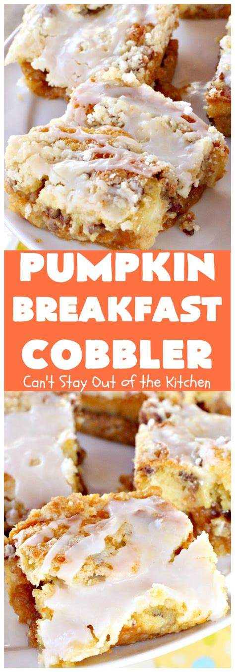 pumpkin breakfast cobbler can t stay out of the kitchen