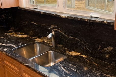 Black Cosmic Granite Countertops by Cosmic Black Granite Traditional Kitchen Dc Metro