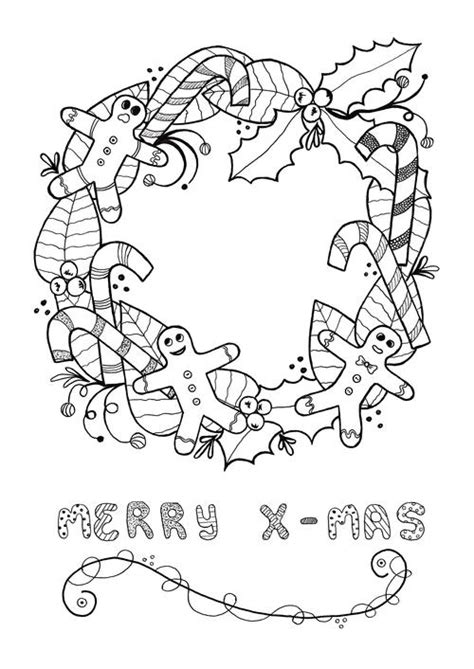 festive christmas colouring book 1908072490 festive wreath christmas coloring page allfreechristmascrafts com
