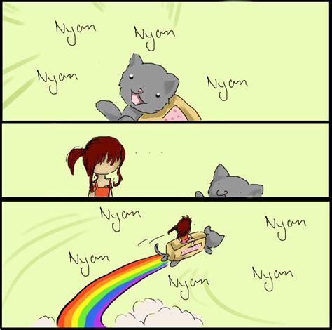 Annoying Cat Meme - nyan cat meme 8d by naru luff on deviantart