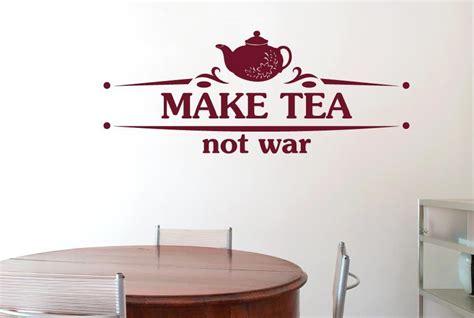make wall stickers make tea not war flower teapot cut it out wall stickers uk