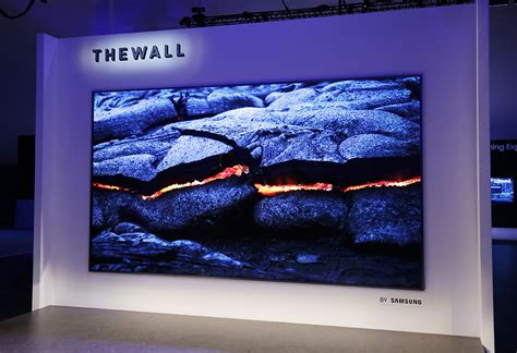 samsung wall tv samsung unleashes the wall a humongous 146 inch modular microled tv