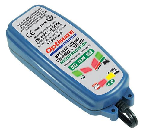 charger lithium battery optimate lithium 0 8 battery charger