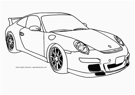 Coloring Page Sports Cars | sports cars coloring pages free large images