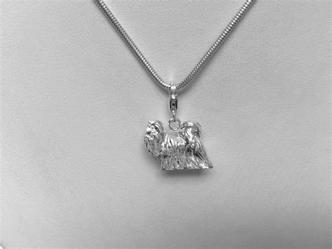 shih tzu charms shih tzu charm haired small dogs from silver charms
