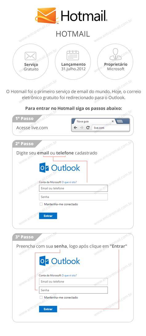 entrada login hotmail entrar login email criar conta www hotmail