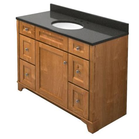 Home Depot Kraftmaid Bathroom Vanity Kraftmaid 48 In Vanity In Praline With Quartz