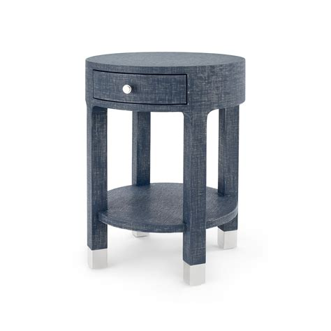 Blue Side Table Dakota 1 Drawer Side Table Navy Blue Bungalow 5