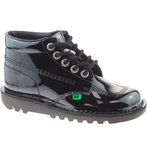school shoes for kickers kick hi black patent leather school shoes