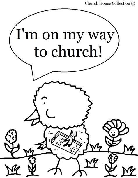 easter chick coloring page for sunday school
