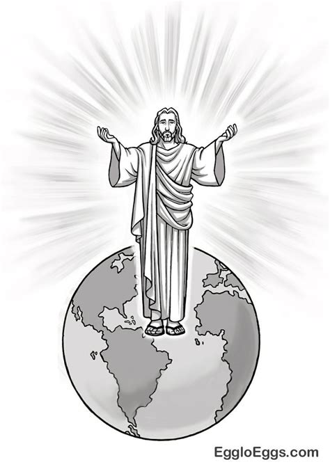 coloring page for light of the world coloring page for jesus light of the world coloring home