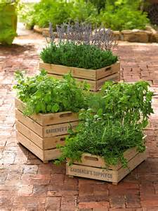 Herb Planter Box by Herb Box Wooden Crate Planter With Liner Gardener S Supply