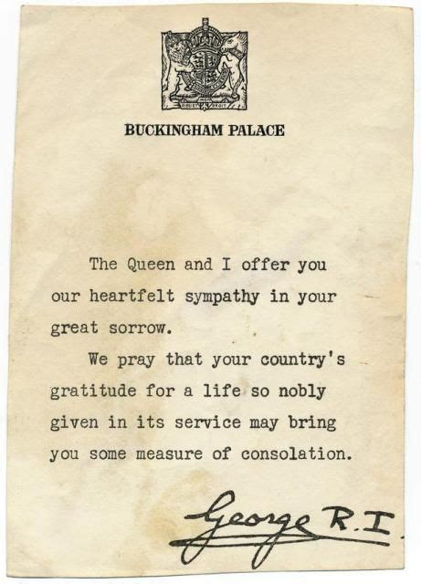 up letter king george letter from hm king george vi to tom durant s family