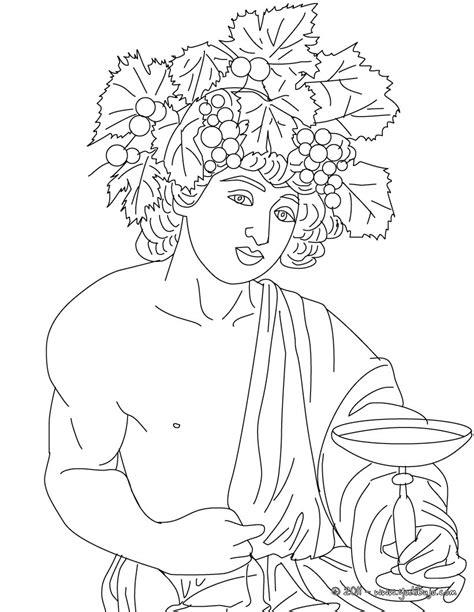 imagenes del dios zeus para imprimir dibujos para colorear dios dioniso dios griego del vino