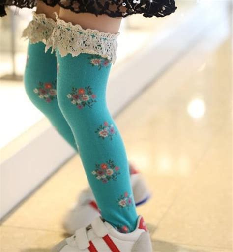 girls stockings blue color pink color boots