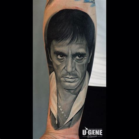 tony montana tattoo portrait best tattoo ideas gallery