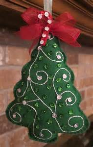 handmade felt christmas tree ornament by beauxtails on etsy