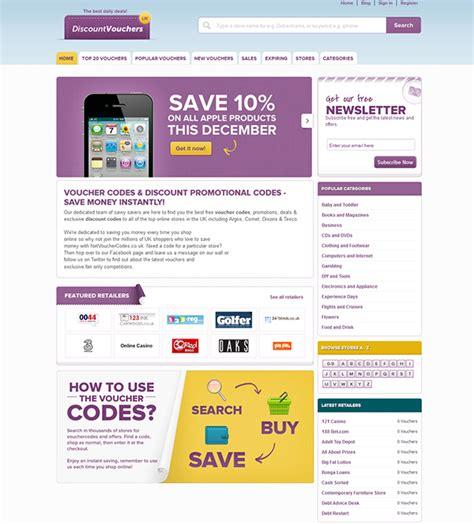 discount vouchers websites uk discount vouchers discount coupon code website on behance