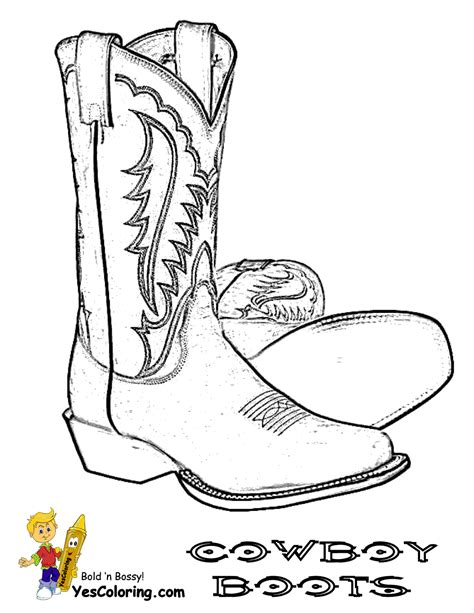 Saddle Up Cowboy Picture Coloring Free Cowboy Coloring Drawing Of A Cowboy Boot Printable