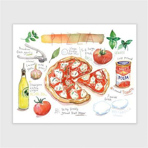 printable pizza recipes pizza recipe print food poster red kitchen art italian