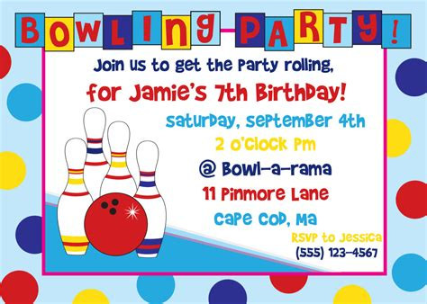 Bowling Birthday Card Template by Birthday Invitations Free Templates Gangcraft Net