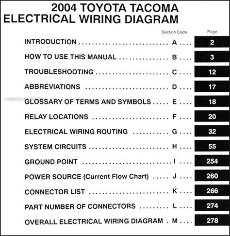 2004 toyota tacoma wiring diagram manual original
