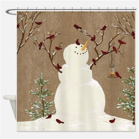 snowman curtains snowman shower curtains snowman fabric shower curtain liner