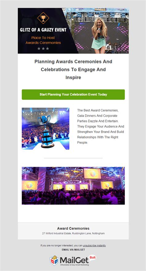 Email Marketing 12 Best Event Email Templates 2018 Formget Award Email Template