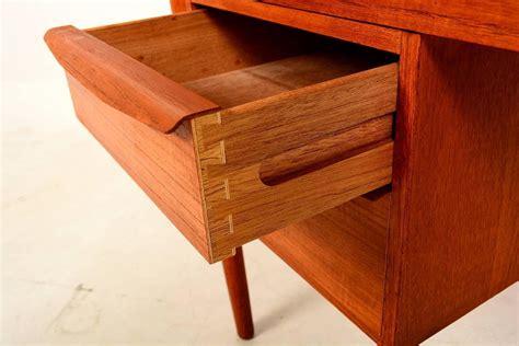 Modern Desk With Drawers Modern Teak Desk Sliding Drawers At 1stdibs