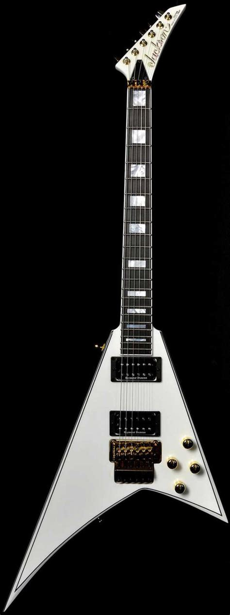 Gitar Jackson V Rr Black jackson custom shop randy rhoads flying v snow white